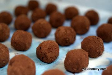 конфеты трюфели домашние веганские, сырые